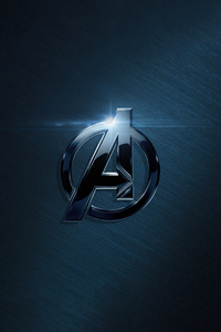 540x960 The Avengers Metal Logo 4k