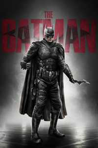 240x320 The Batman 2020 Movie Poster 5k