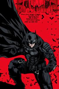 720x1280 The Batman 2021 Comic Style Poster 4k