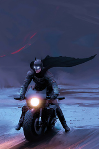 720x1280 The Batman Batcycle 4k