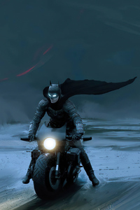 720x1280 The Batman On Batcycle 4k