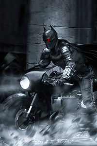 360x640 The Batman On Bike 4k