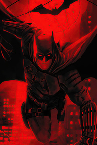 720x1280 The Batman Red Flame 5k