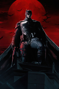 1242x2688 The Batman Robbert Pattinson Comic Art 5k