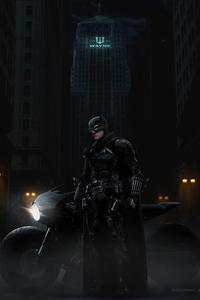1242x2688 The Batman Robert Pattinson 5k