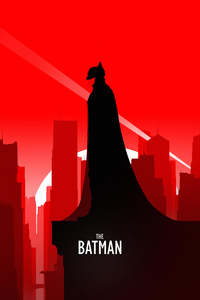 480x800 The Batman Robert Pattinson Minimal Poster 5k