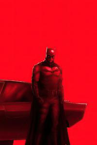 360x640 The Batman With Bat Mobile 4k
