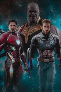 The Big 3 Vs Thanos Art