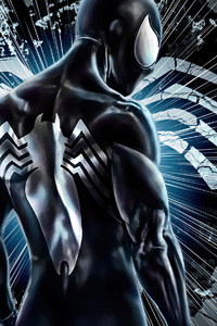 The Black Suit Spiderman 4k