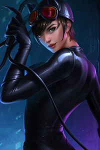 320x480 The Catwoman 5k