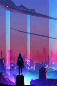 1080x1920 The City Of Neon 4k
