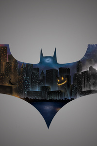 The Dark Knight Bat Logo 5k