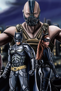 480x800 The Dark Knight Trilogy Artwork