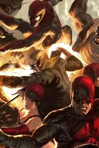 The Defenders Into Avengers Infinity War 5k
