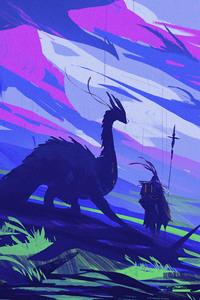 1125x2436 The Dragon Rider 5k