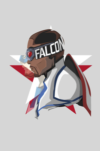360x640 The Falcon And The Winter Soldier Minimal White 5k