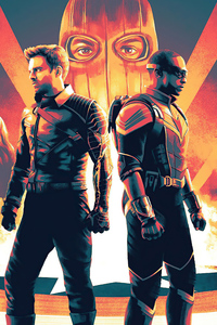 640x1136 The Falcon And The Winter Soldier Official Poster