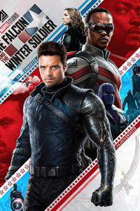 The Falcon And The Winter Soldier Poster 4k