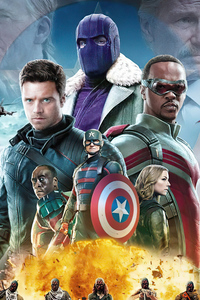 320x480 The Falcon And The Winter Soldier Tv Series 4k
