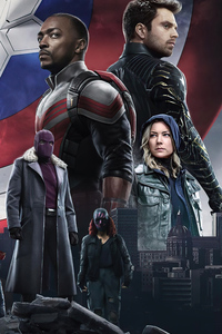 The Falcon And The Winter Soldier Tv Series Poster 5k