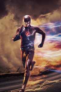 1080x2160 The Flash Artwork HD