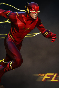 1080x2160 The Flash Barry Allen Art