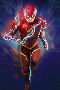 720x1280 The Flash Blue Lightning