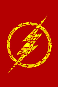 1440x2960 The Flash Logo Artwork