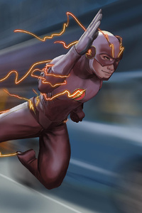 The Flash Run Art