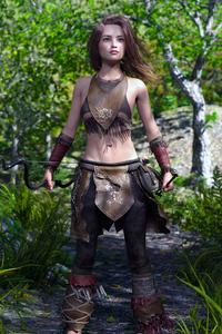 240x320 The Forest Explorer Girl 4k