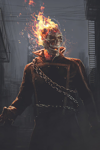 750x1334 The Ghost Rider Flame