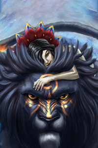 2160x3840 The Girl And The Lion 5k