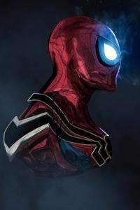The Glowing Eyes Spiderman 4k