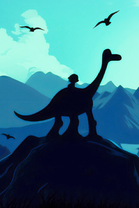 800x1280 The Good Dinosaur Illustration