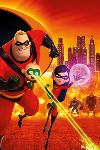 1242x2688 The Incredibles 2 12k