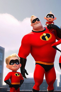 1440x2960 The Incredibles 2 Team