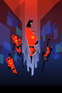 The Incredibles Minimal Art 5k
