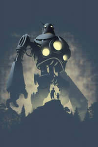 1080x1920 The Iron Giant 4k