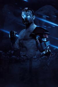 360x640 The Iron Michael Chandler UFC Poster 5k