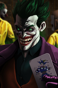 750x1334 The Joker Happy Smile 4k