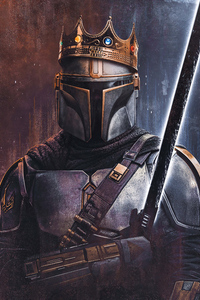 1080x2280 The King Of Mandalorian 4k