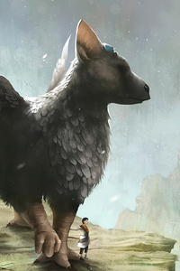 240x400 The Last Guardian Game Art 4k