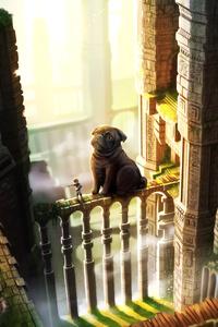 1280x2120 The Last Guardian Pug Dog 5k