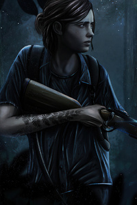 240x400 The Last Of Us Part II 4k Artwork