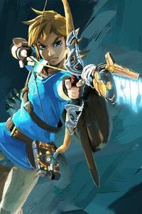 320x568 The Legend Of Zelda 4k Game