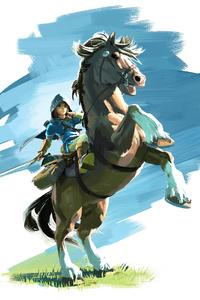 320x568 The Legend Of Zelda Breath Of The Wild 8k