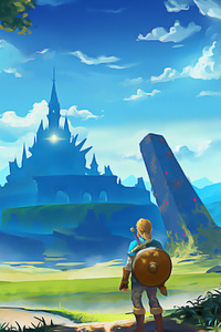 320x568 The Legend Of Zelda Breath Of The Wild Artworks
