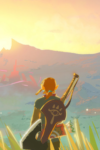 The Legend Of Zelda Breath Of The Wild Paint Art 4k