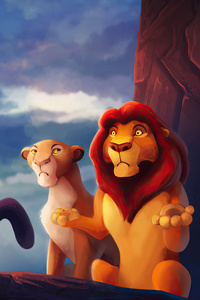 480x800 The Lion King Grumpy Cat Funny
