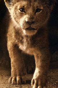 1440x2560 The Lion King Simba 2019 4k